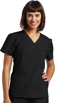 Scrubs: White Cross Women's Shirring V-Neck Scrub Top