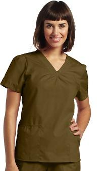 Scrubs: White Cross Women's Shirring V-Neck Scrub Top