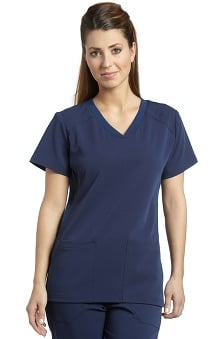 Clearance Marvella by White Cross Women's V-Neck Solid Scrub Top with Pockets