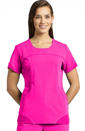 Clearance Marvella by White Cross Women's Scoop Neck Sport Solid Scrub Top with Pockets