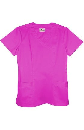 Clearance Allure by White Cross Women's Mock Wrap Solid Scrub Top