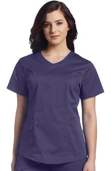 Clearance White Cross Allure Women's V-Neck Solid Scrub Top
