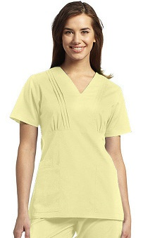 Clearance Allure by White Cross Women's Pleated Cross Over Wrap Solid Top