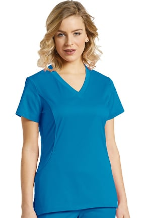Allure by White Cross Women's V-Neck Stretch Side Solid Scrub Top