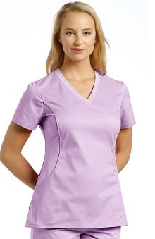 Clearance Allure by White Cross Women's V-Neck Stretch Side Solid Scrub Top