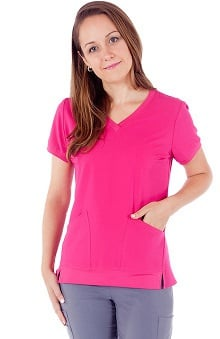Marvella by White Cross Women's V-Neck Solid Scrub Top
