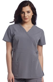 Allure by White Cross Women's Mock Wrap Scrub Top