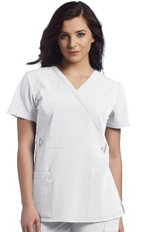 Clearance Allure by White Cross Women's Mock Wrap Scrub Top
