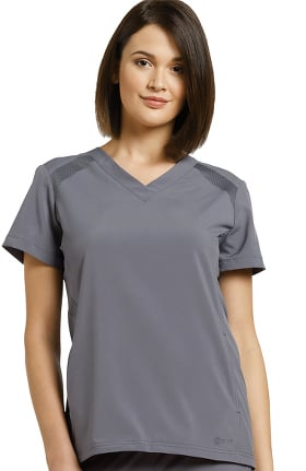 Fit by White Cross Women's V-Neck Solid Scrub Top