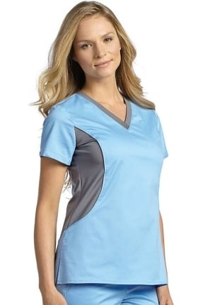 Clearance Allure by White Cross Women's Contrast Jersey Neck Solid Scrub Top
