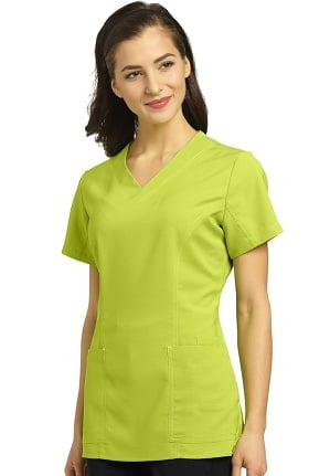 Oasis by White Cross Women's V-Neck Princess Seam Scrub Top