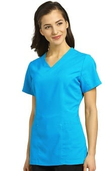321 Scrubs by White Cross Women's V-Neck Princess Seam Scrub Top