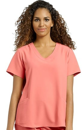 Oasis by White Cross Women's V-Neck Solid Scrub Top