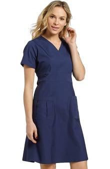 catplus: White Cross Women's A-Line Scrub Dress