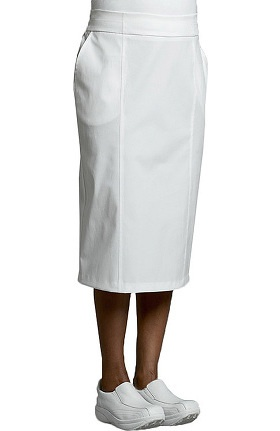 Clearance White Cross Women's Flat Front Back Pleat Scrub Skirt