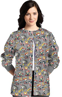 Clearance White Cross Women's Dental Print Warm Up Jacket