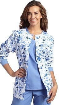 White Cross Women's Floral Print Warm Up Jacket