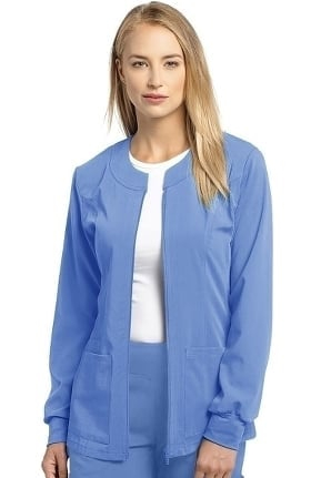Marvella by White Cross Women's Jewel Neck Zip Front Scrub Jacket