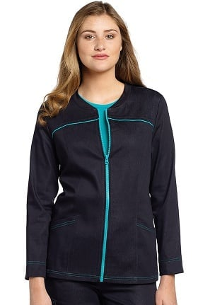 White Cross Women's Zip Front Solid Scrub Jacket
