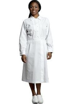 White Cross Women's Long Sleeve Pintuck Scrub Dress
