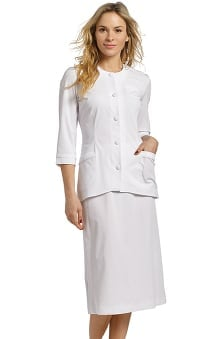 Marvella by White Cross Women's 2 Piece &Frac34; Sleeve Scrub Jacket And Skirt Set