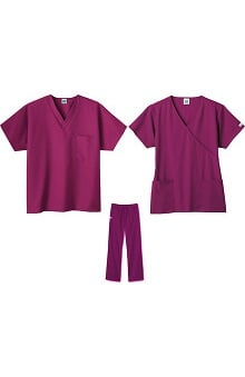 Fundamentals by White Swan Women's 2 Tops 1 Pant Scrub Set