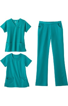 Clearance Jockey Scrubs Women's 2 Tops 1 Pant Set