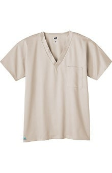 unisex tops: Fusion by White Swan Unisex 1-Pocket Solid Scrub Top