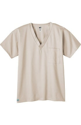 Clearance WS Gear by White Swan Unisex 1-Pocket Solid Scrub Top