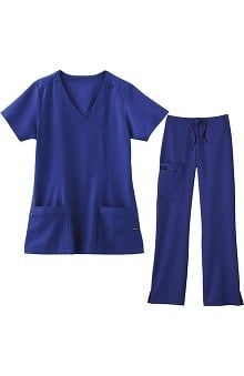 petite: Jockey Scrubs Women's Mock Wrap Set