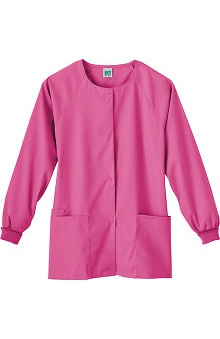 dental : Fundamentals by White Swan Women's Snap Front Warm Up Solid Scrub Jacket