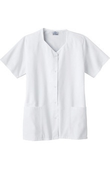 Fundamentals by White Swan Women's Sweetheart Neck Solid Scrub Top