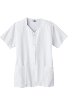 Clearance Fundamentals by White Swan Women's Sweetheart Neck Solid Scrub Top