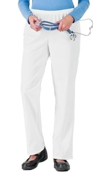 petite: Fundamentals by White Swan Women's Mid-Waist Scrub Pants