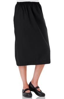 Fundamentals by White Swan Women's Elastic Waist Solid Scrub Skirt