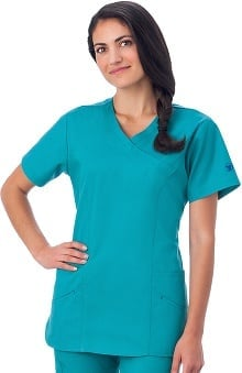 F3 Fundamentals by White Swan Women's Smiley Pocket Scrub Top