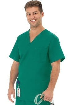 F3 Fundamentals By White Swan Unisex Multi Pocket Solid Scrub Top