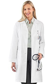 META Labwear Women's Performance 4-Pocket Lab Coat with Nano-Tex