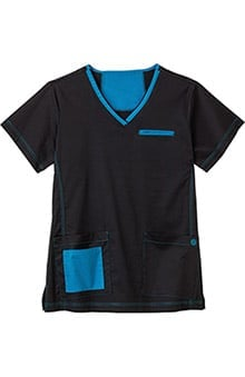 Bio Women's Contrast V-Neck Top