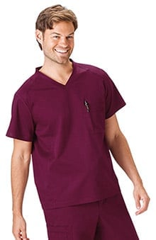 Bio Men's V-Neck Solid Scrub Top