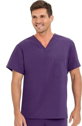 Classic Fit Collection by Jockey® Unisex 1 Pocket Tri Blend Solid Scrub Top
