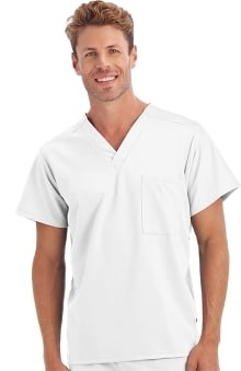 Clearance Classic Fit Collection by Jockey® Scrubs Unisex 1 Pocket Tri Blend Solid Scrub Top