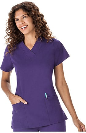 Classic Fit Collection by Jockey® Scrubs Women's Tri Blend Solid Scrub Top