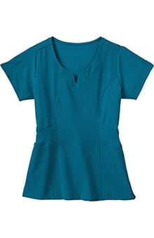 Clearance Classic Fit Collection by Jockey® Scrubs Women's 2 Pocket Tri Blend Rib Knit Solid Scrub Top