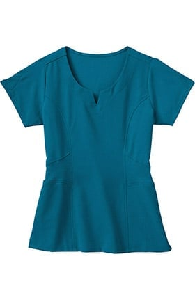 Clearance Classic Fit Collection by Jockey® Women's 2 Pocket Tri Blend Rib Knit Solid Scrub Top