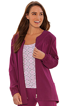 dental : Classic Fit Collection by Jockey Women's Tri Blend Zipper Jacket