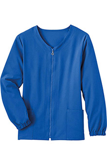Classic Fit Collection by Jockey Women's Tri Blend Zipper Scrub Jacket