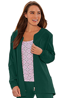 Classic Fit Collection by Jockey® Scrubs Women's Tri Blend Zipper Scrub Jacket
