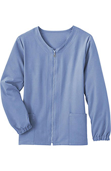 Clearance Classic Fit Collection by Jockey Women's Tri Blend Zipper Scrub Jacket
