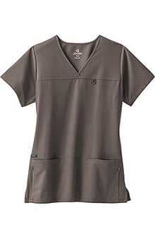 Clearance Classic Fit Collection by Jockey Women's 6 Pocket Solid Scrub Top
